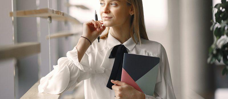 working as secretary
